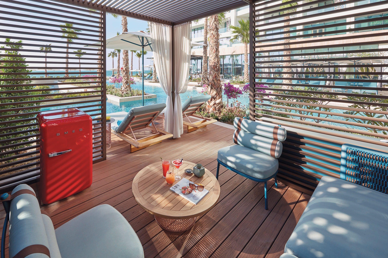 Poolside cabana in Dubai
