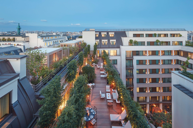 Rooftop terrace at Parisian apartment