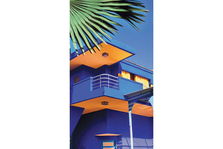 Blue villa at Jardin Majorelle, Marrakech