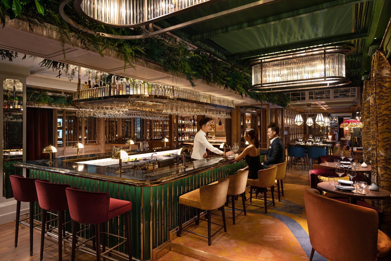 The bar at The Aubrey at Mandarin Oriental, Hong Kong