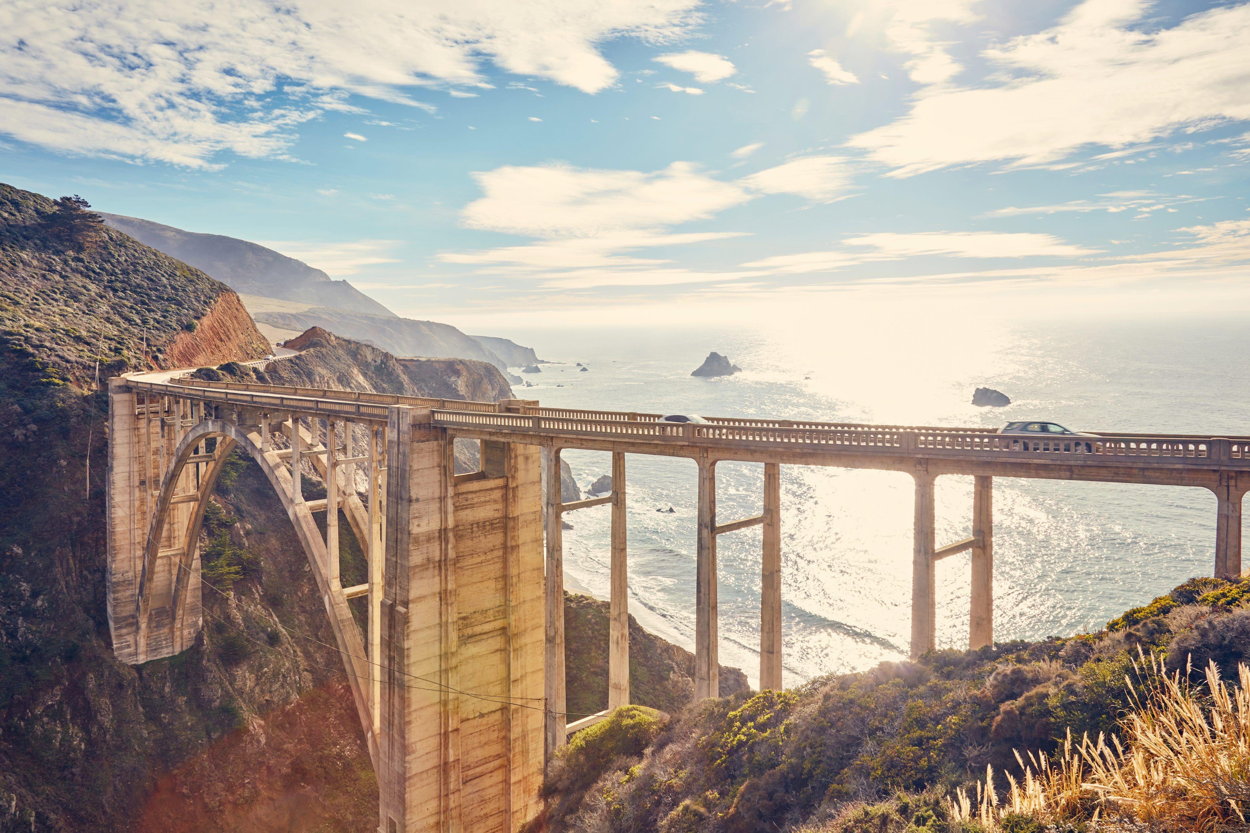 The Bixby Creek Bridge in Big Sur, California