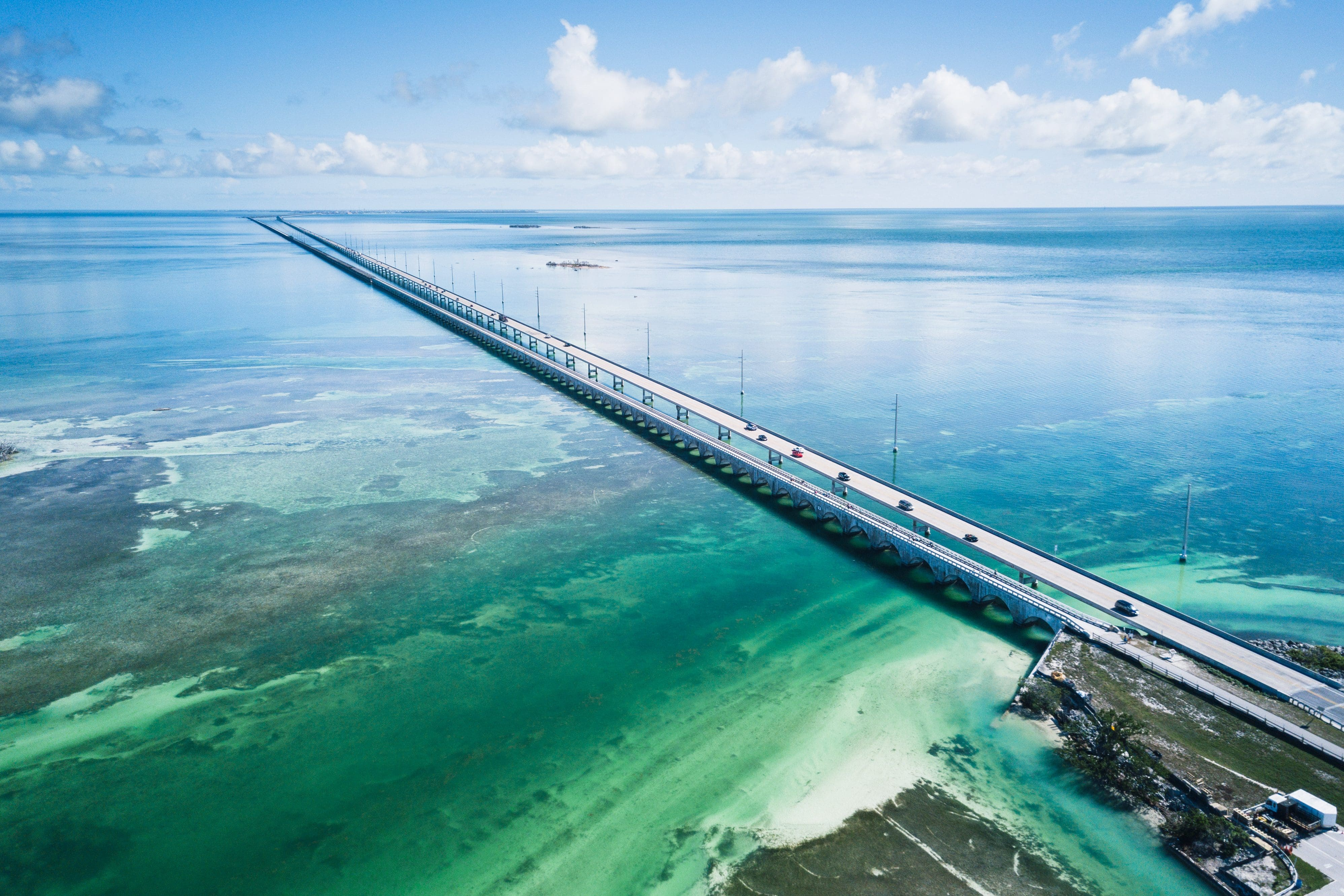 The Overseas Highway from Miami to Key West, Florida