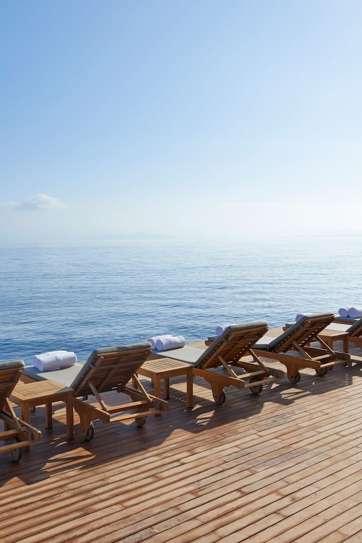 Sun deck and sea at Mandarin Oriental, Bodrum