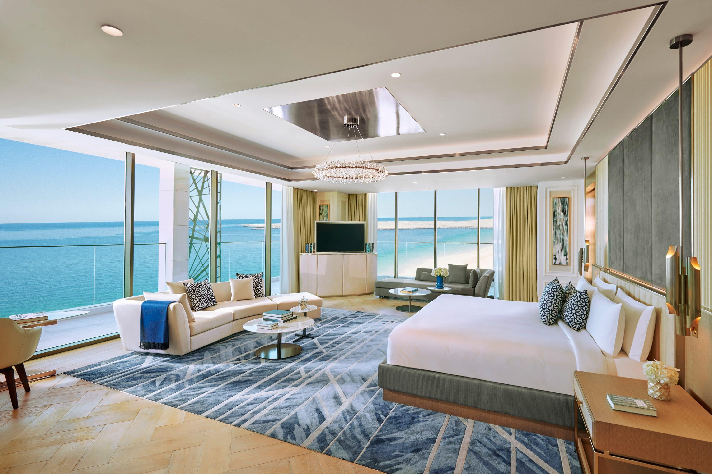 Bedroom with sea views at Mandarin Oriental Jumeira, Dubai