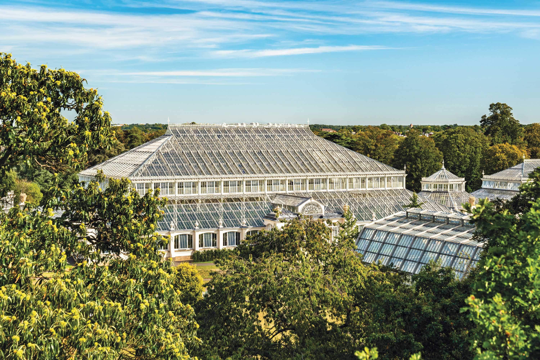 Glass houses at the Royal Botanic Gardens Kew, London