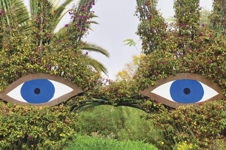 Eye-like sculpture at Anima André Heller Garden, Marrakech