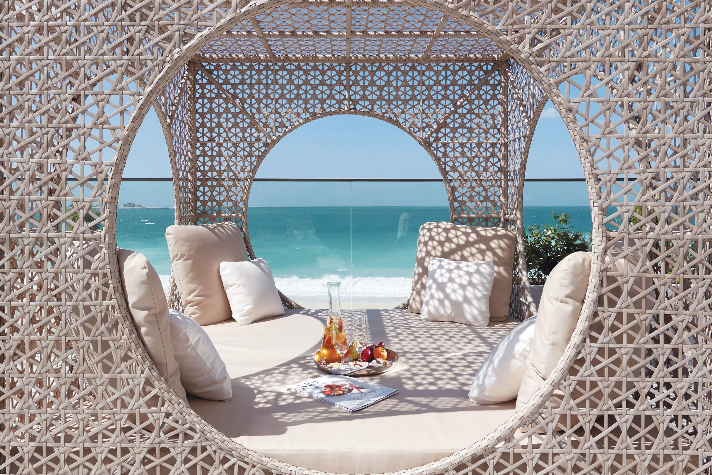 Day bed on the beach at Mandarin Oriental Jumeira, Dubai