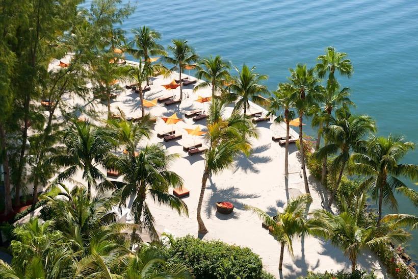 迈阿密文华东方酒店的私人海滩俯瞰风景