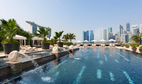 Rooftop pool at Mandarin Oriental, Singapore