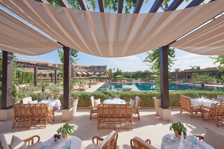 Terrace and pool at Mandarin Oriental, Marrakech