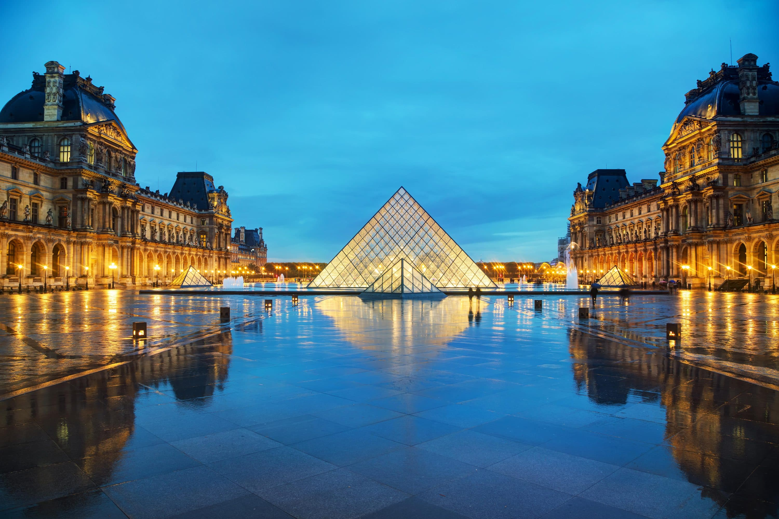 The Louvre Museum's famous Pyramid