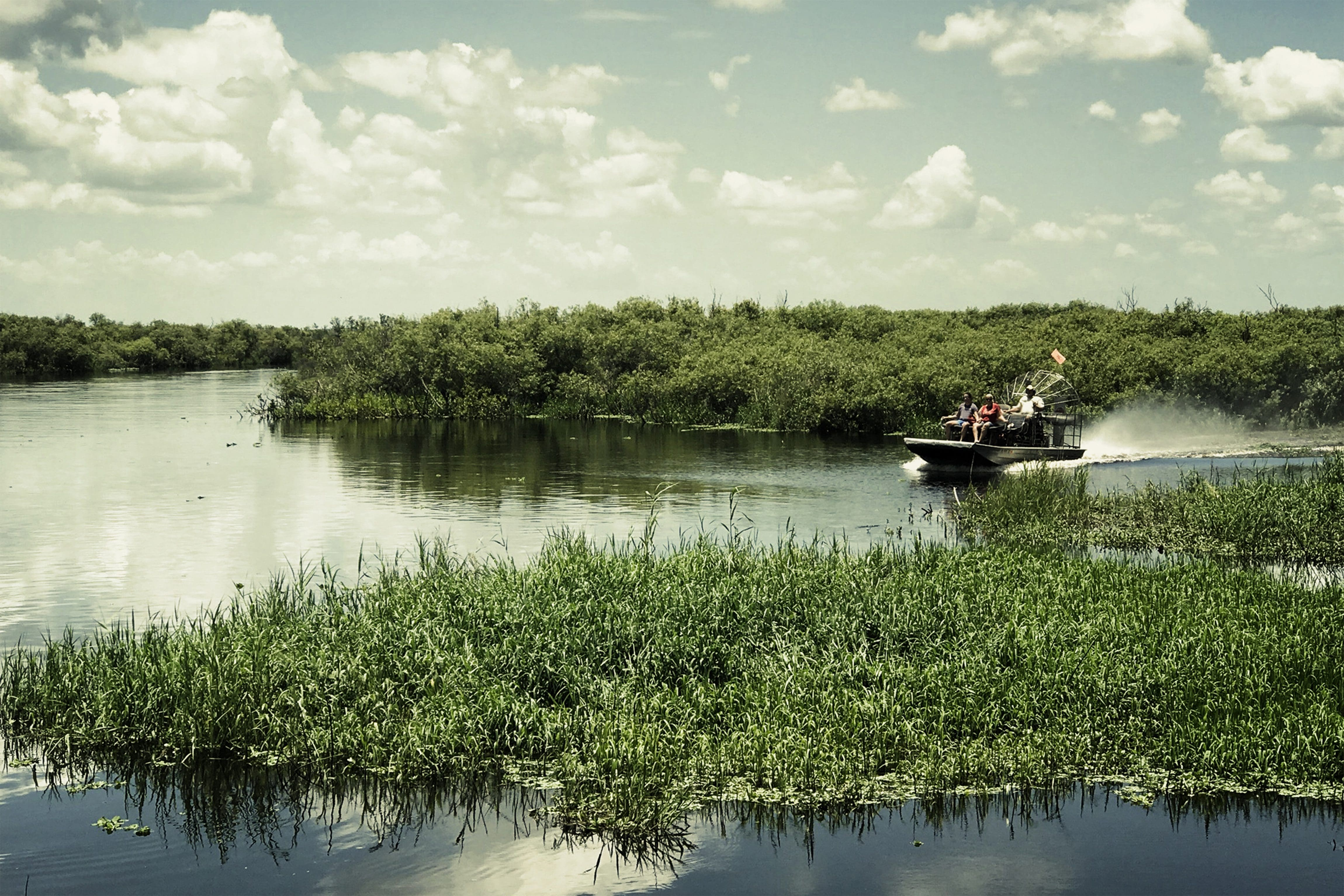 Boat on the Everglades
