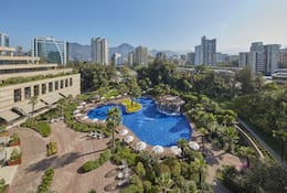 Outdoor pool at Mandarin Oriental, Santiago
