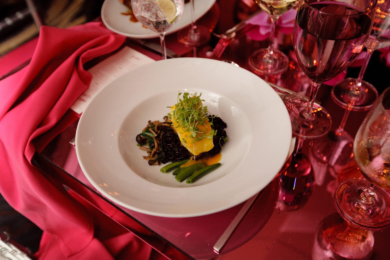 Wedding breakfast dish at Mandarin Oriental, New York