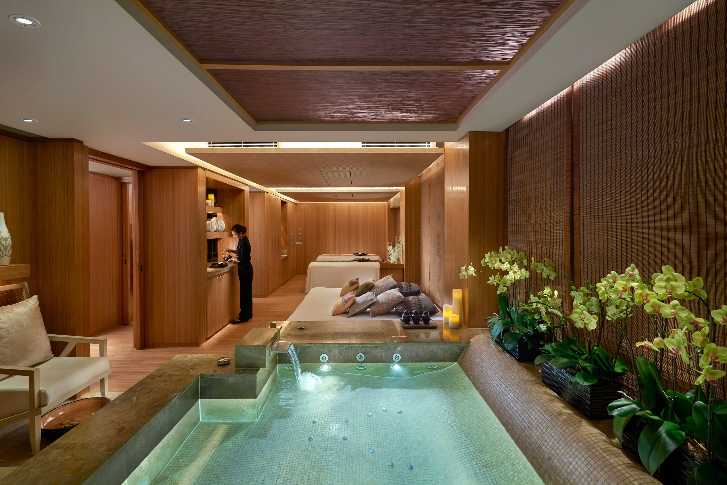 A spa suite with pool at The Landmark Mandarin Oriental