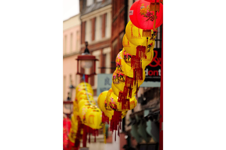 Lanterns in London's Chinatown