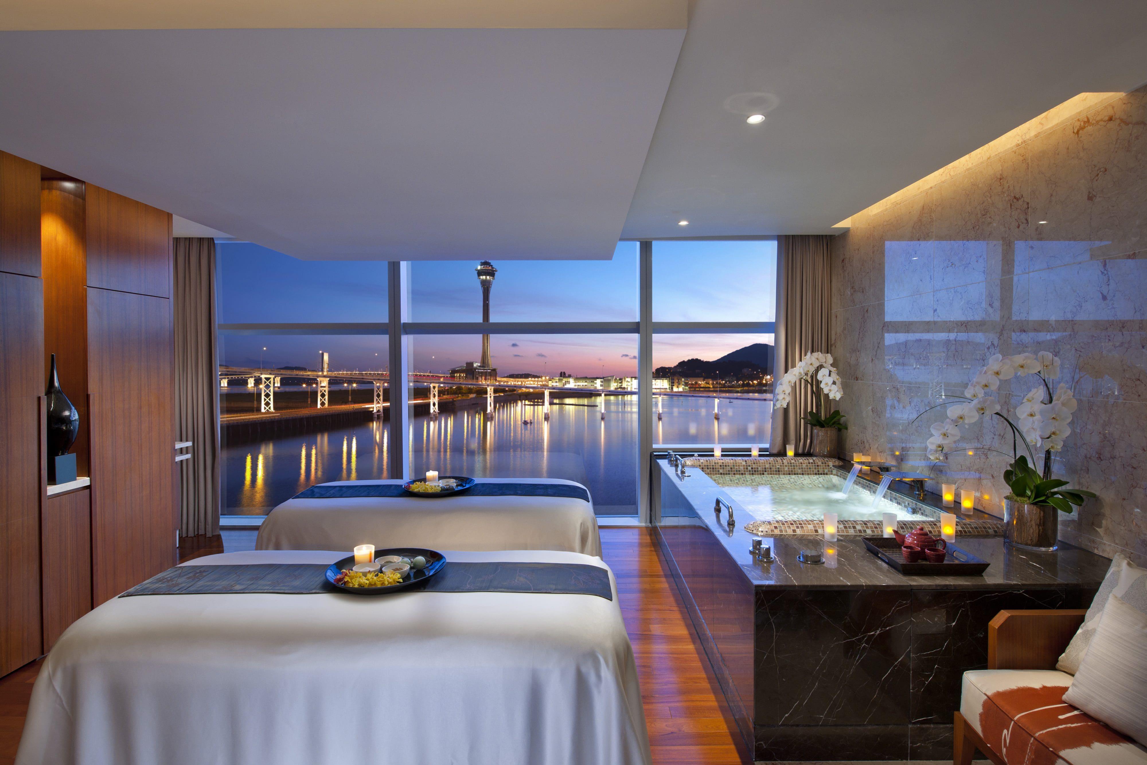 View from the treatment room at Mandarin Oriental, Macau