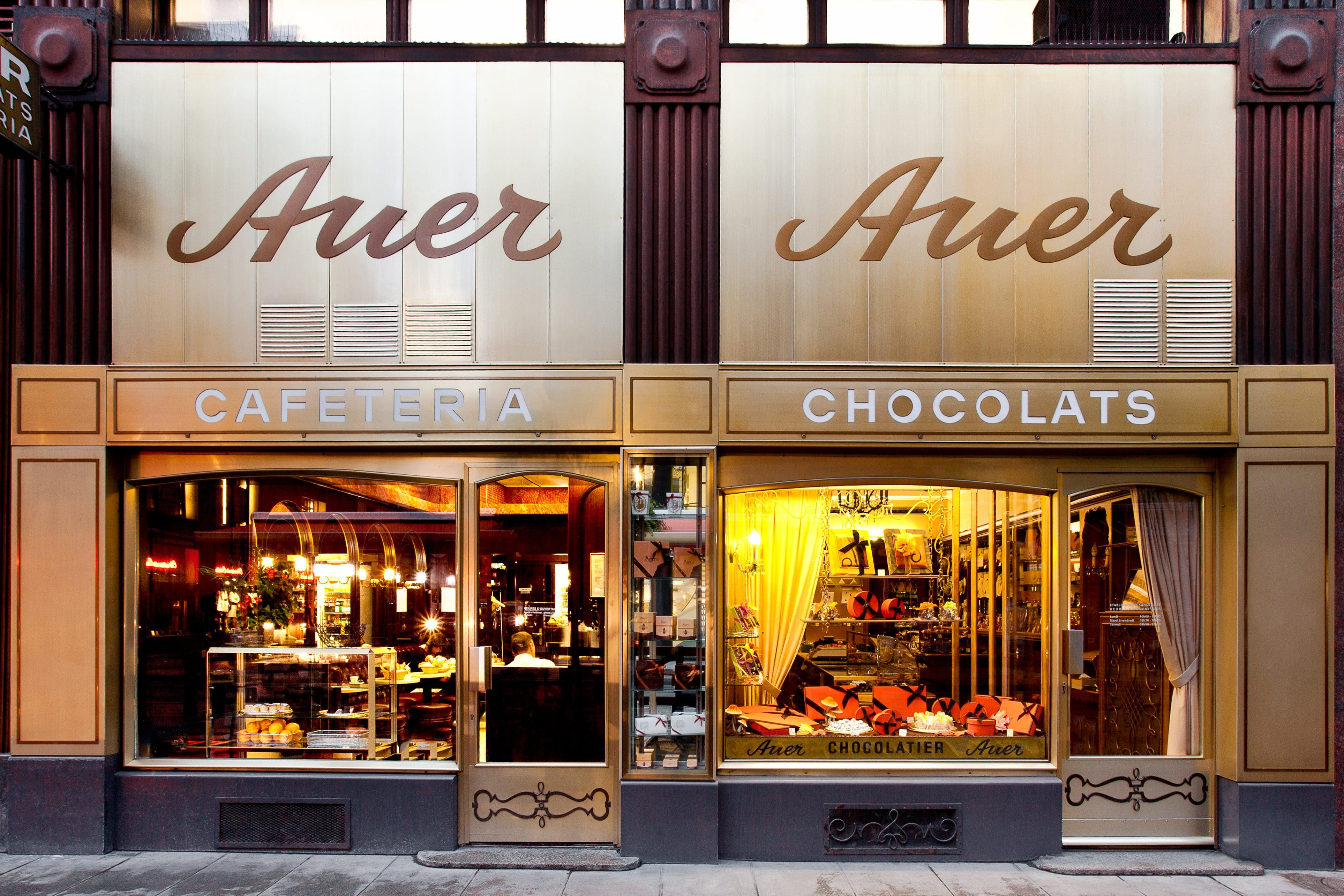 Exterior of Auer Geneva chocolate shop