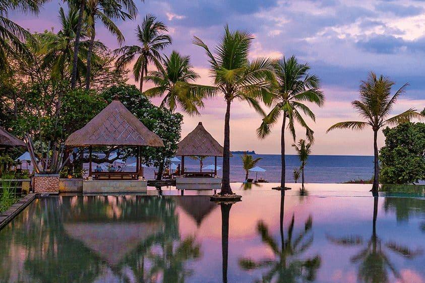 Infinity pool at Oberoi Lombok