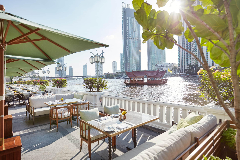Verandah terrace at Mandarin Oriental, Bangkok