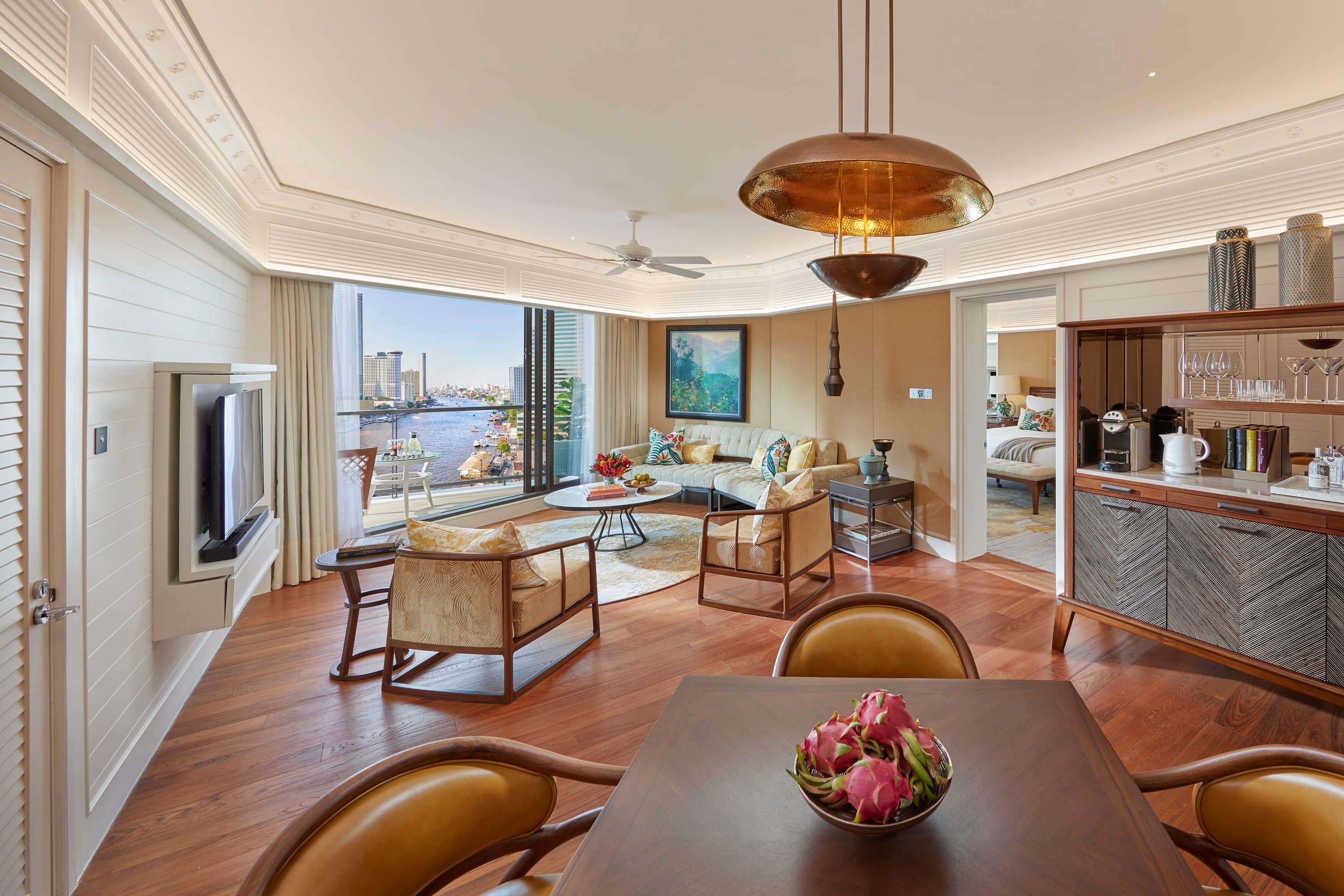 Suite living room at Mandarin Oriental, Bangkok