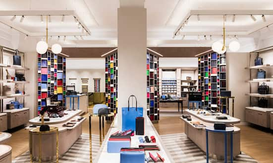 Interior of Smythson shop New Bond Street, London