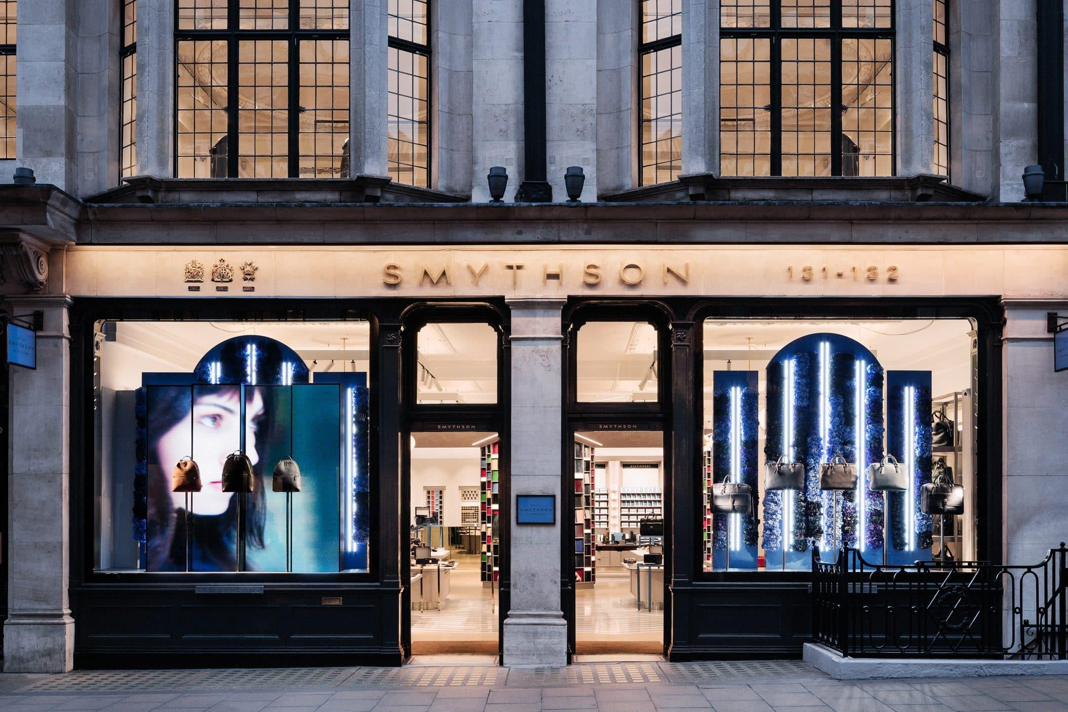 Exterior of Smythson shop, London