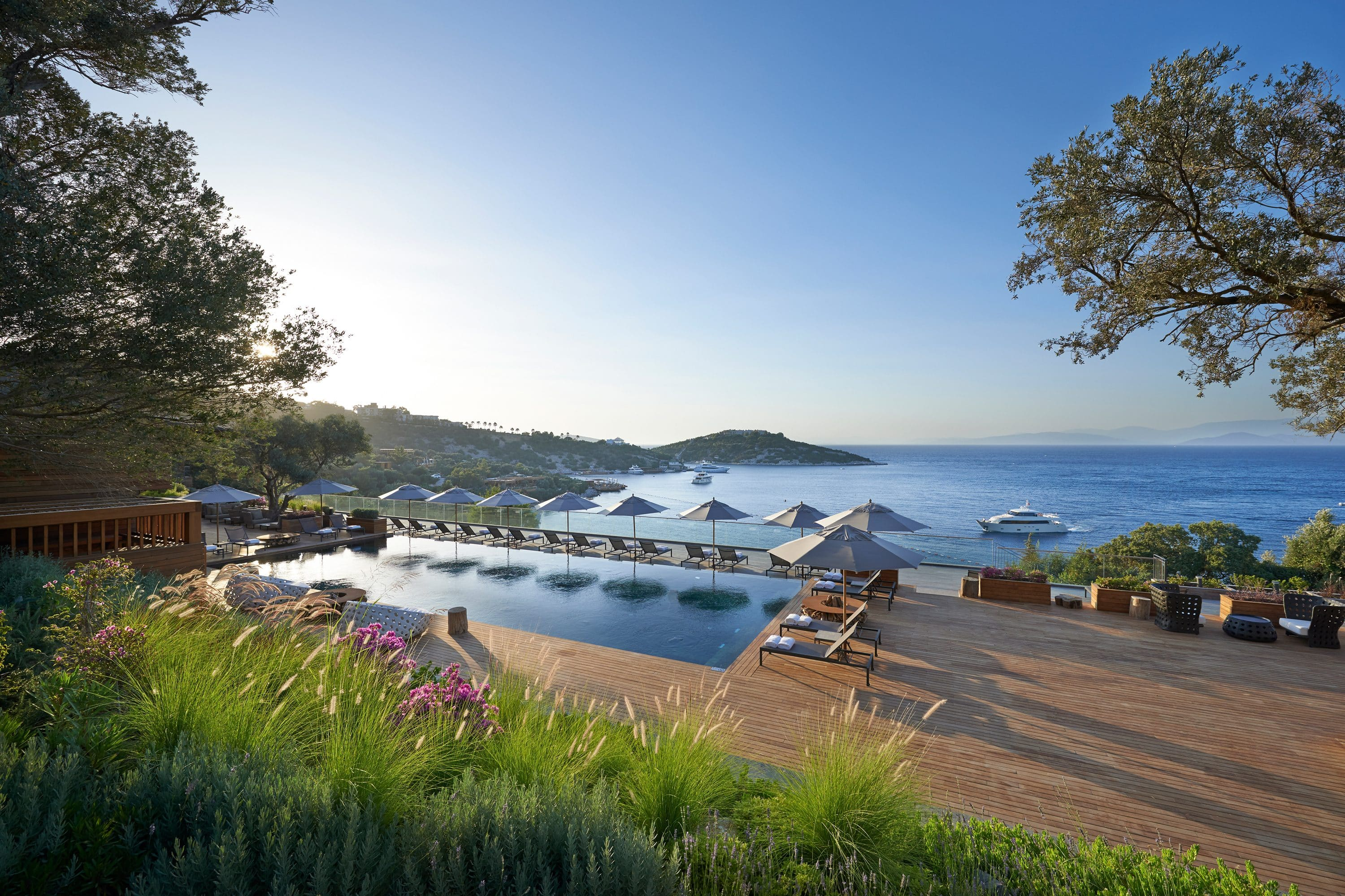 See view and pool at Mandarin Oriental, Bodrum