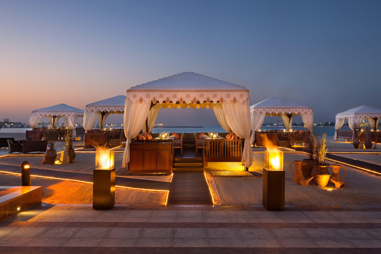 Canopied tables at BBQ Al Qasr at Emirates Palace