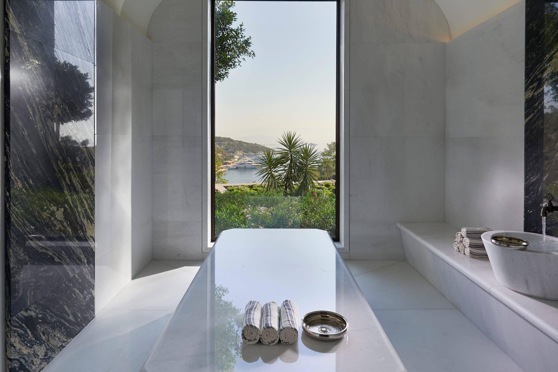 Hammam room at the spa at Mandarin Oriental, Bodrum