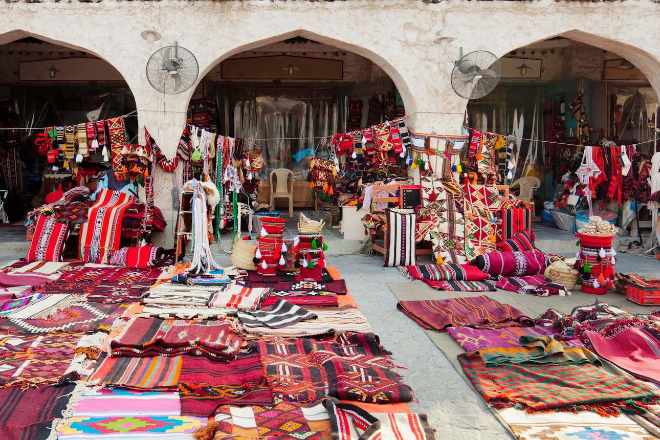 Goods for sale at Souq Waqif