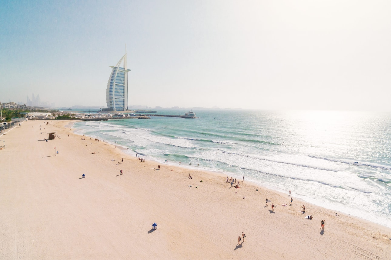 Views of Burj al Arab from Sunset Beach