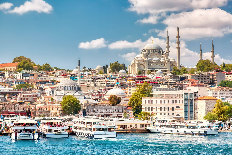 Istanbul skyline from Bosphorus