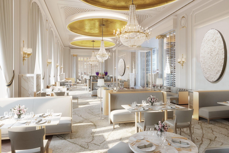 Quique Dacosta restaurant dining room at Mandarin Oriental Ritz, Madrid