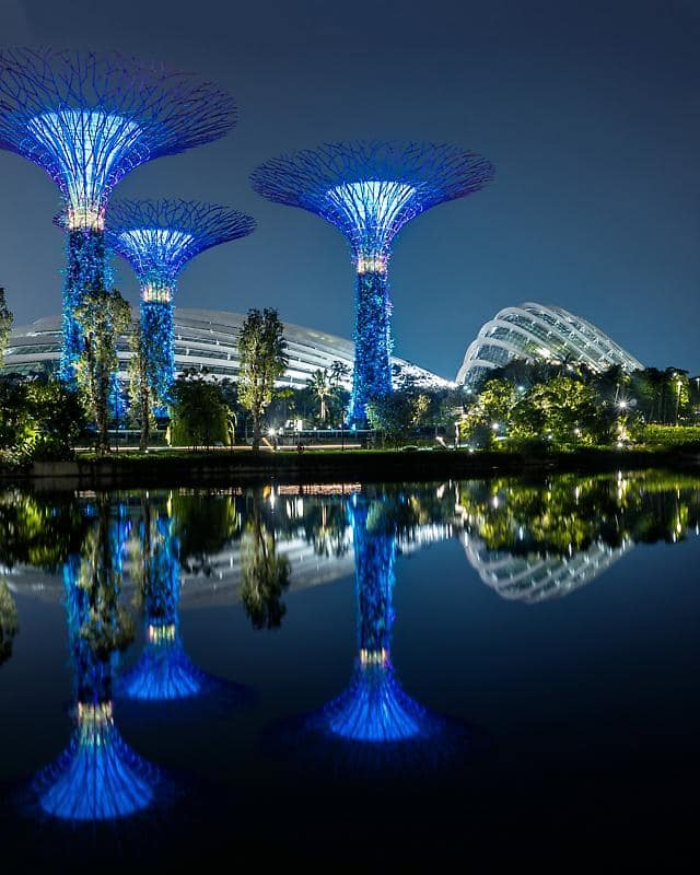 Gardens by the Bay, Singapore at night