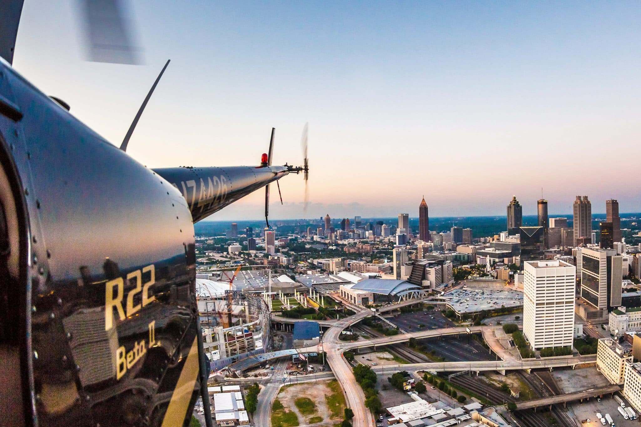 Impress your date with a private helicopter tour. Atlanta Helicopter Tours  offers 45-minute-long trips. Hover over iconic Atlanta landmarks such as  the ...