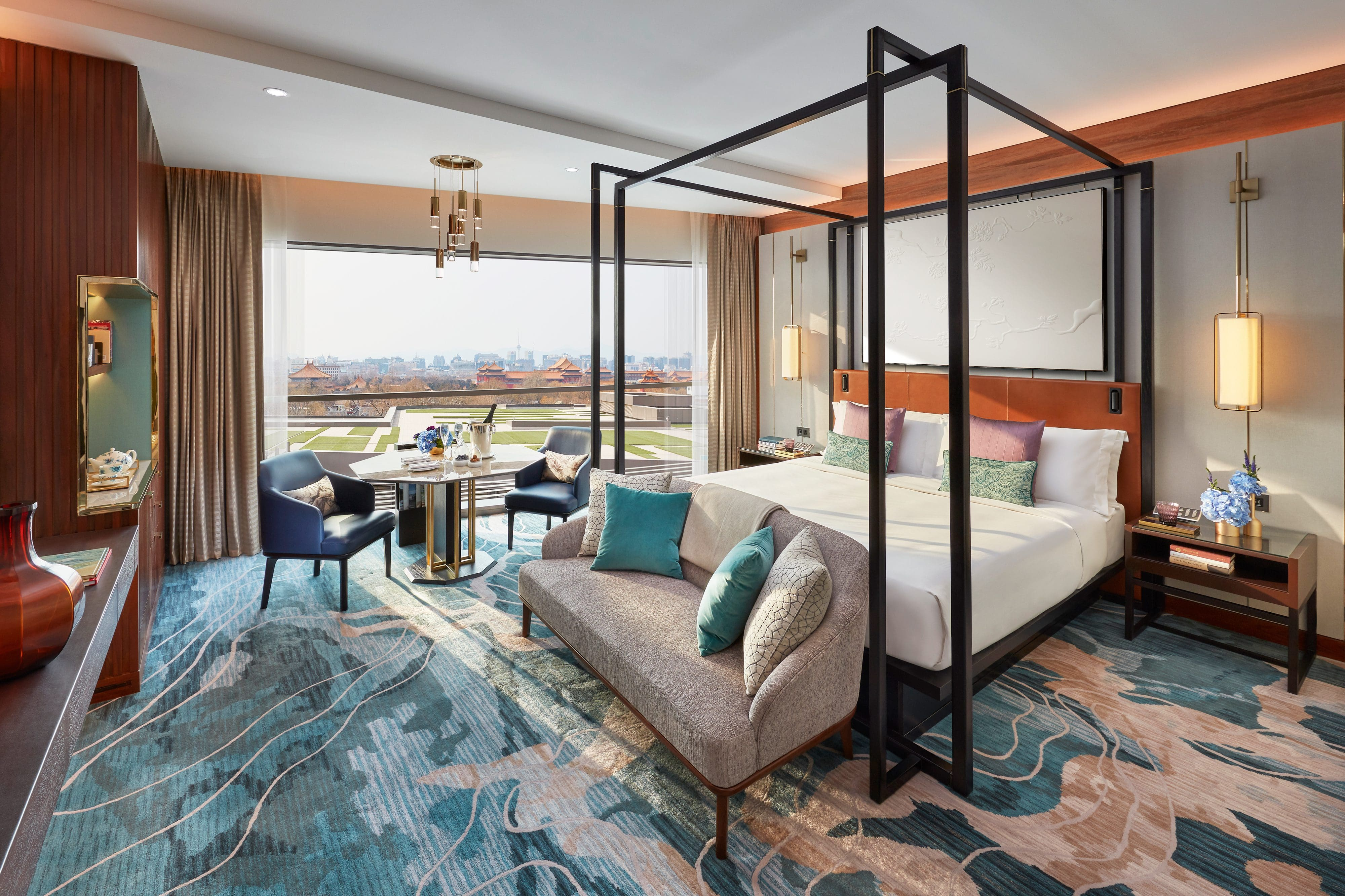 Interior of the Mandarin Room hotel suite at MO Wangfujing