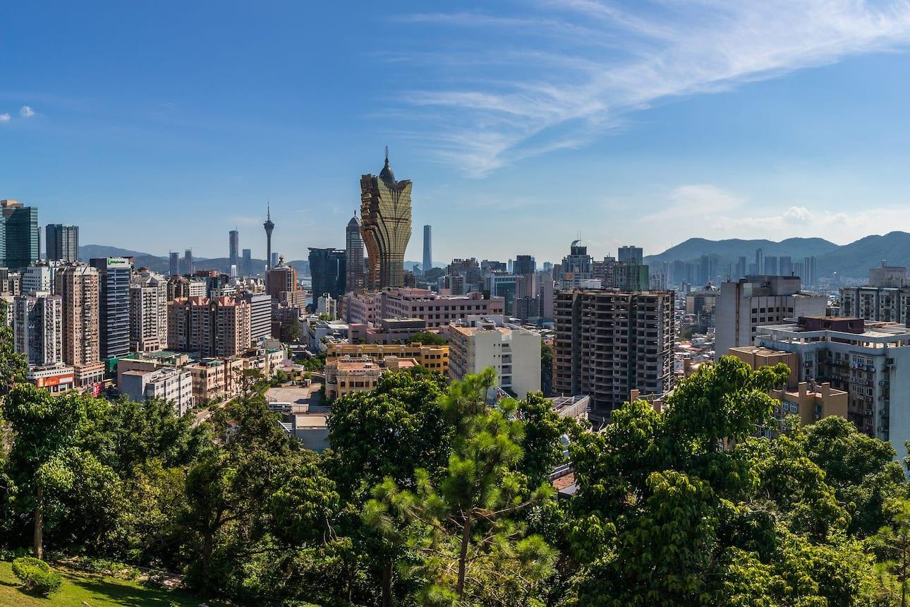 Skyline view of Macau