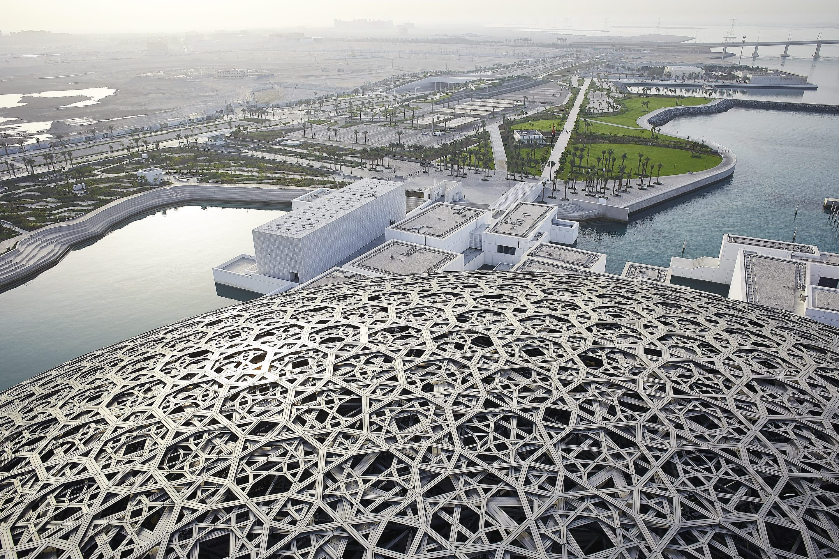 View of Louvre Abu Dhabi from above