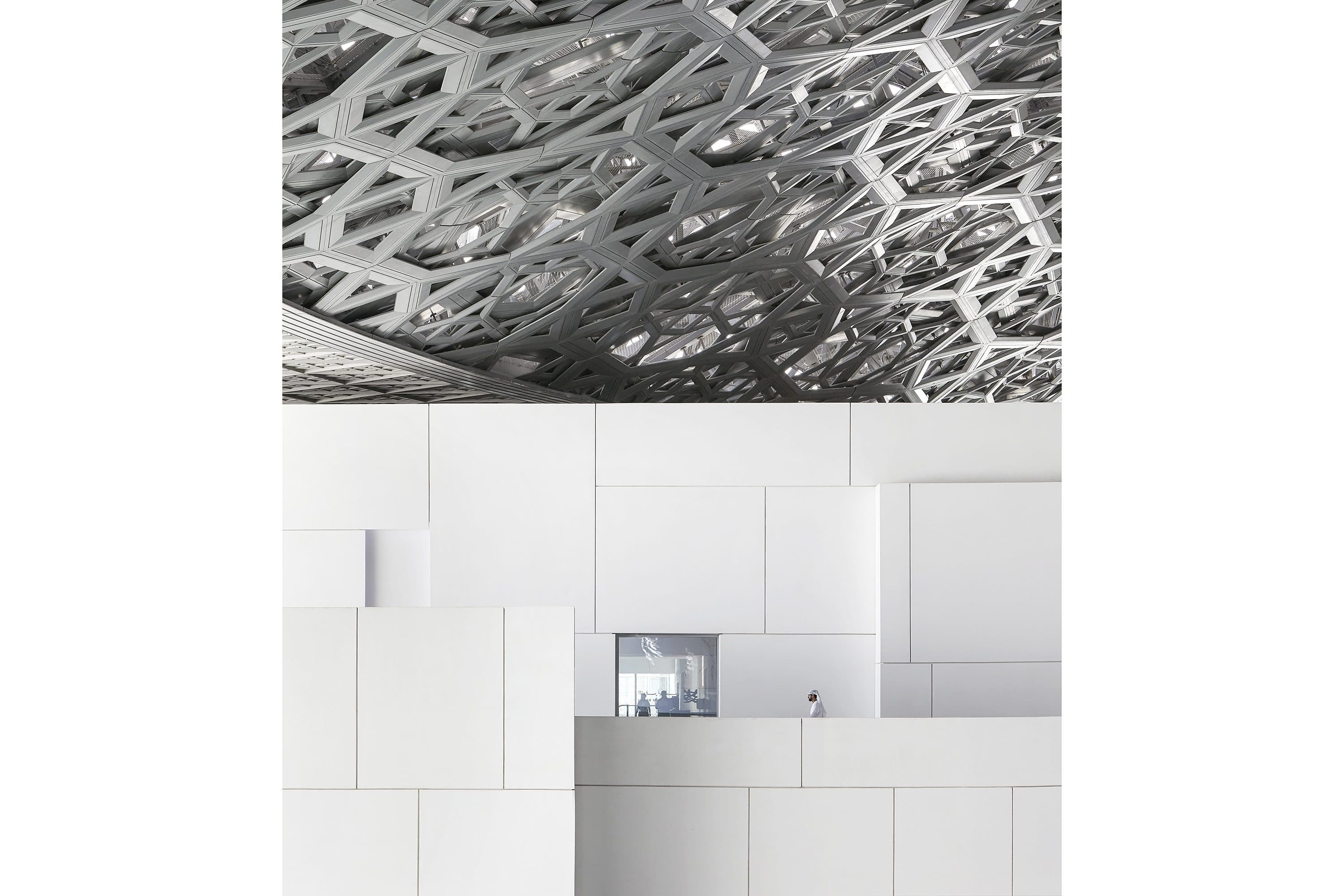 Interior architecture of Louvre Abu Dhabi