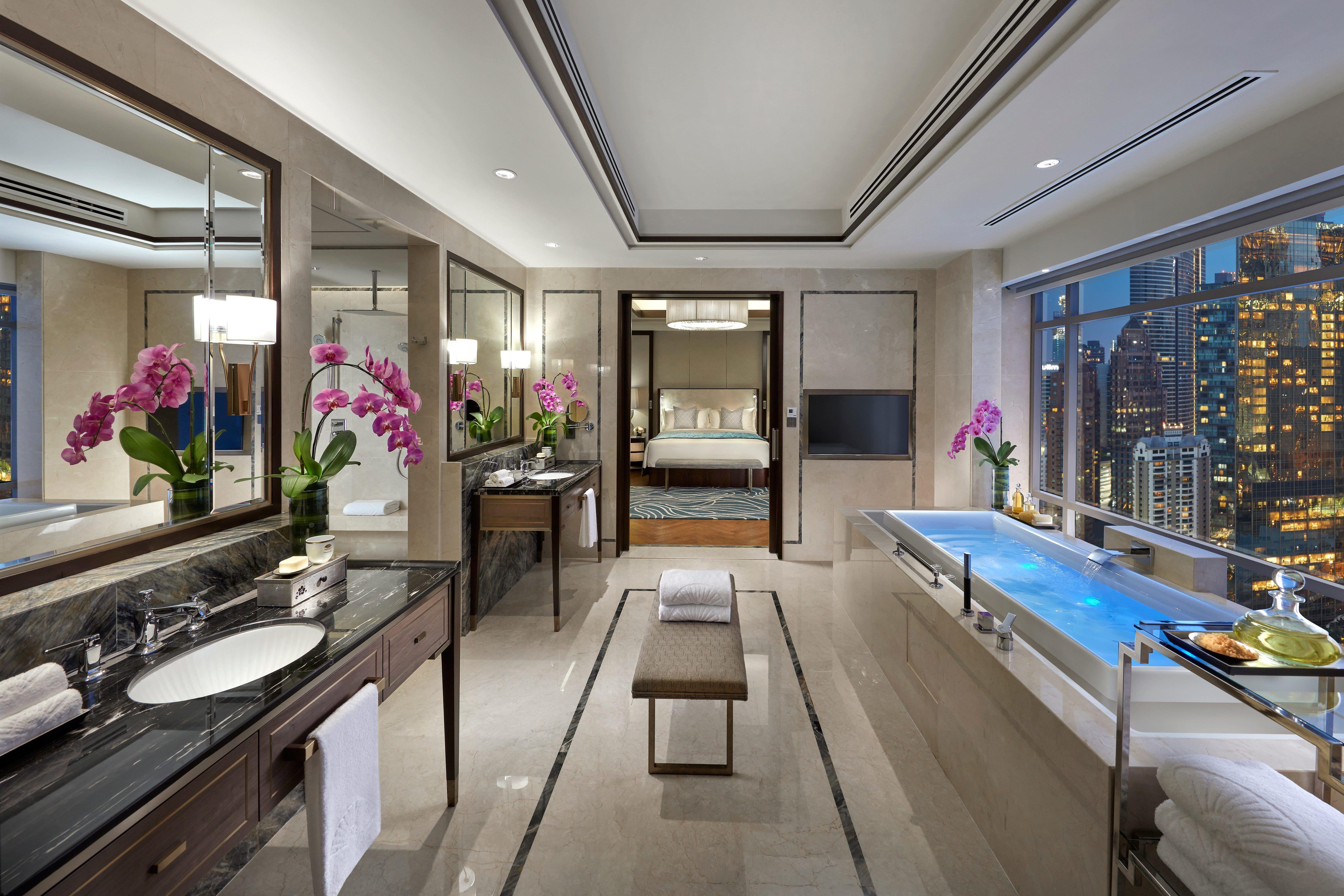 Bathroom of presidential suite at Mandarin Oriental, Kuala Lumpur