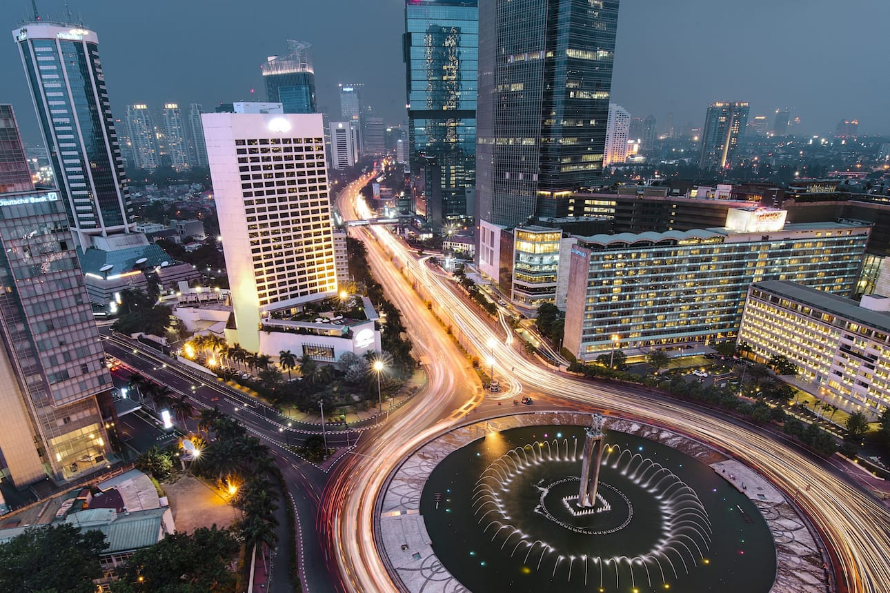 Jakarta city by night