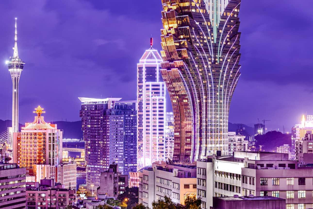 Macau cityscape by night