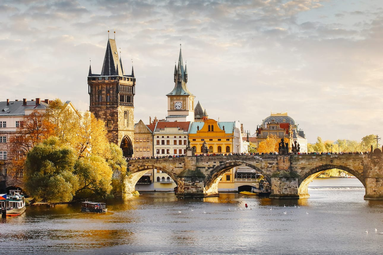 View of Prague from the water
