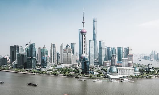 View of the Shanghai skyline