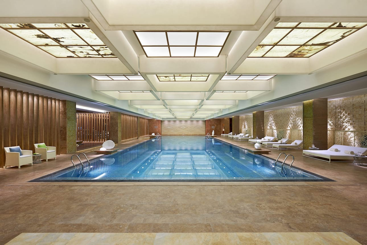 Spa pool at Mandarin Oriental Pudong, Shanghai