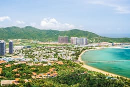 View of Sanya beach and sea