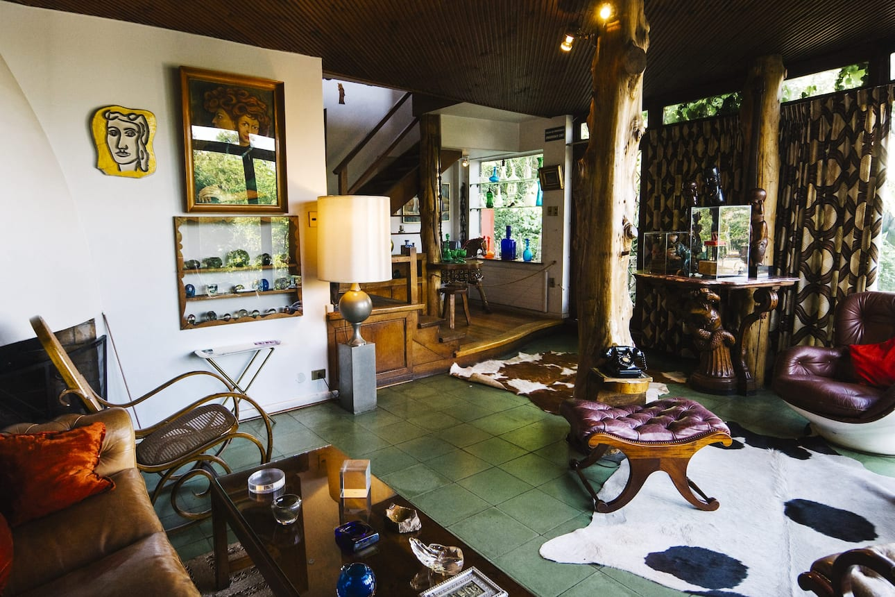 Quirky interior of Pablo Neruda's La Chascona home