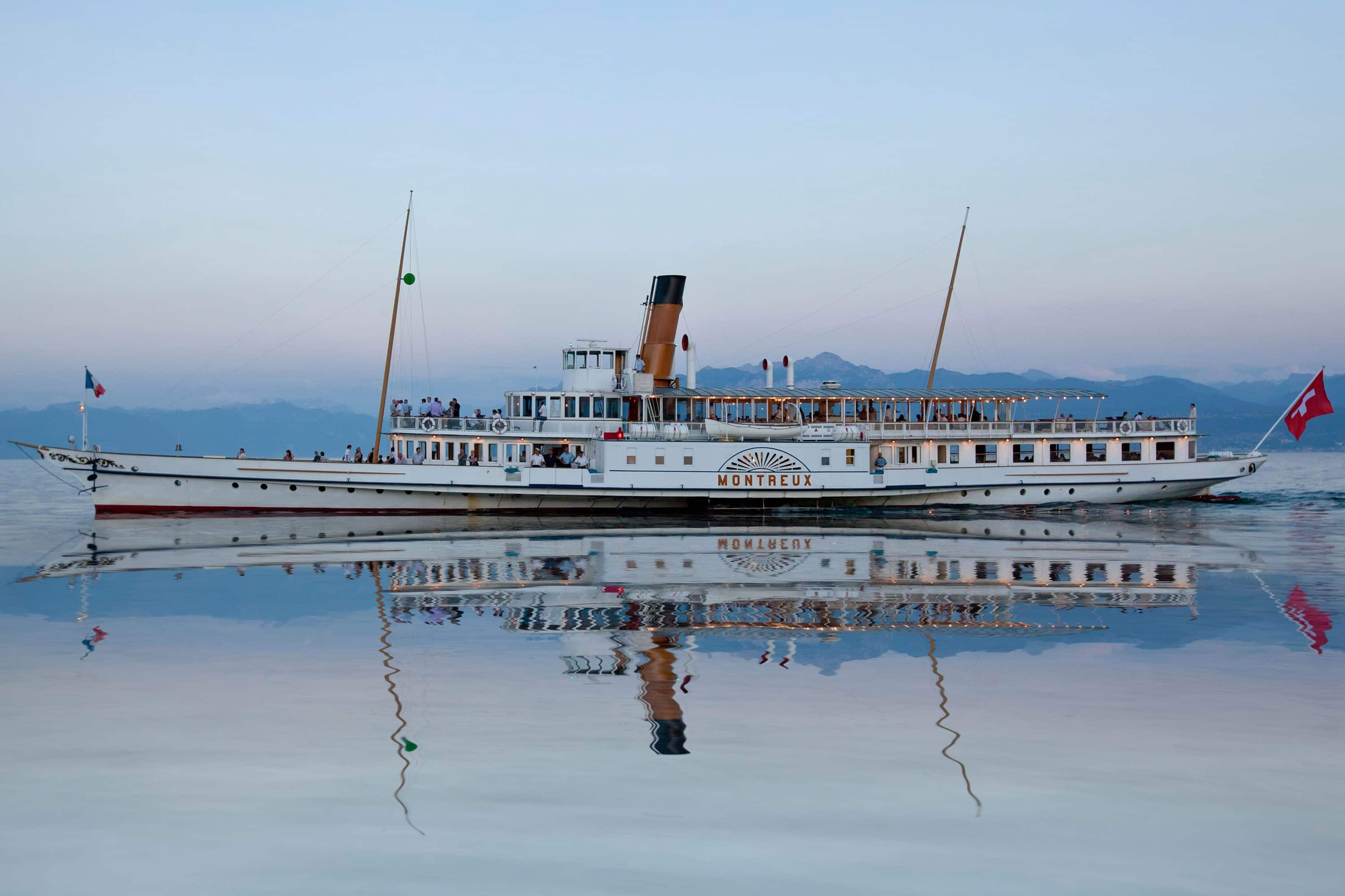 Paddle steamer on Lake Geneva