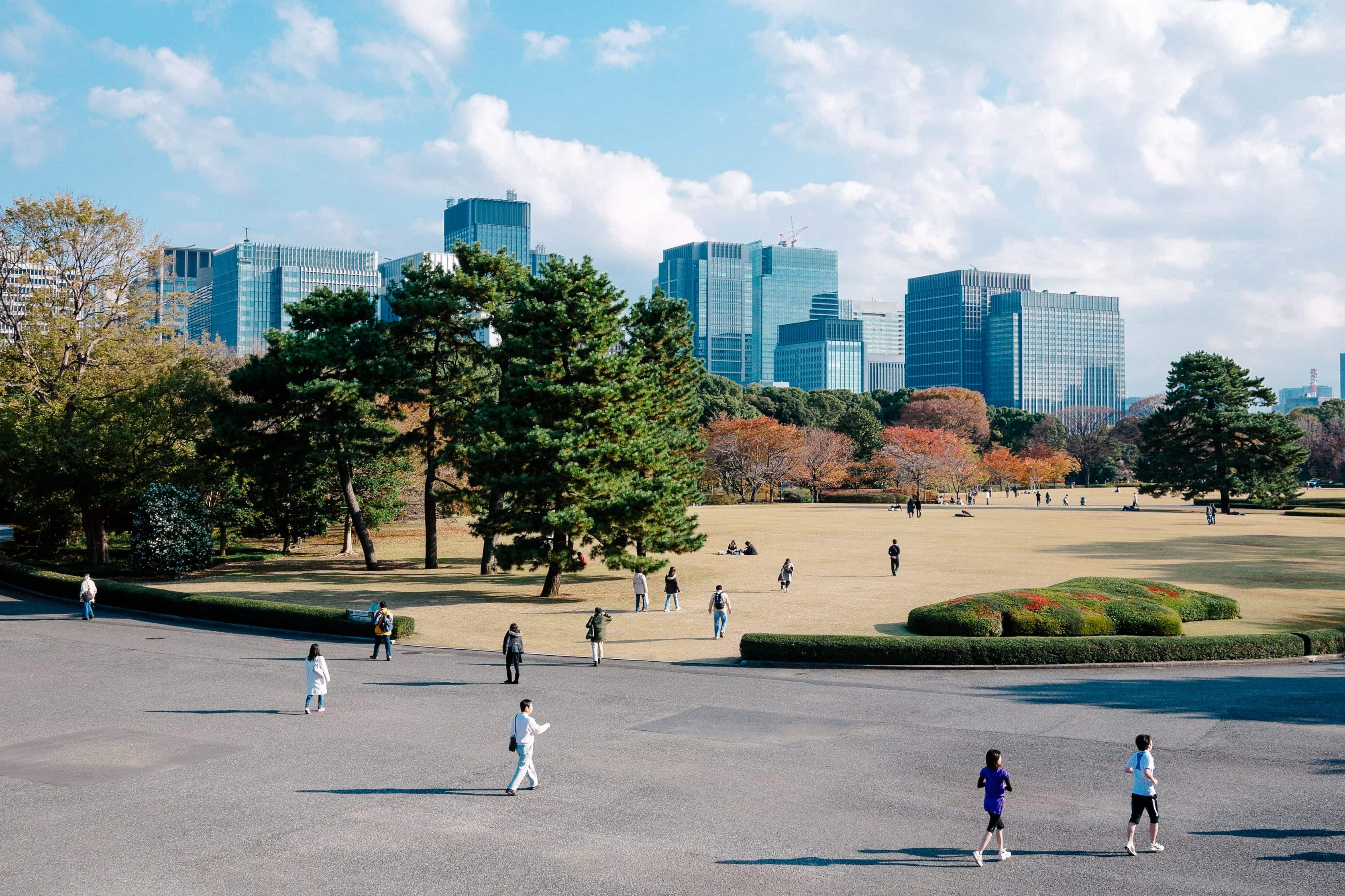 Park gardens in the grounds of the former Edo Castle